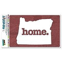 オレゴン州OR ホーム州 MAG-NEATO'S(TM) ビニールマグネット - 質感マルサラワイン