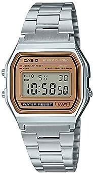 CASIO卡西歐 手表 STANDARD 系列數顯手表 金色表盤 海外模式 A-158WEA-9JF