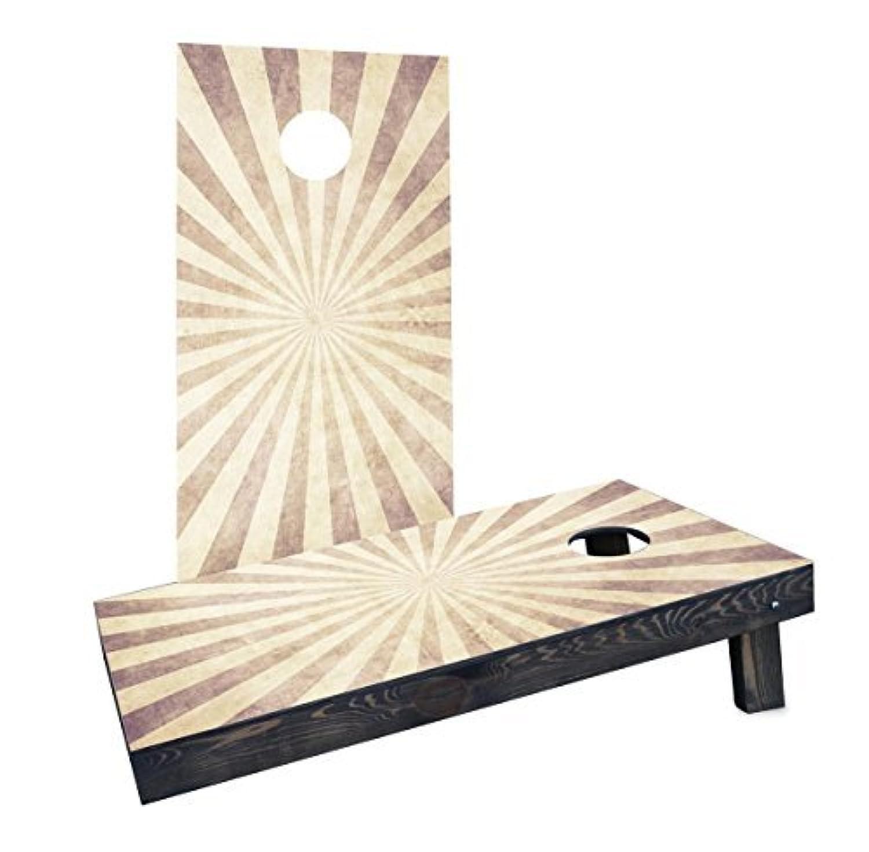 Custom Cornhole Boards Incorporated CCB382-AW-RH Sunburst Cornhole Boards [並行輸入品]