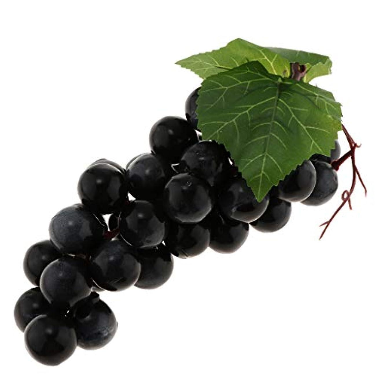 スクラップ祖先底人工葡萄 現実的 果物 キャビネット 窓 掛け 装飾品 子供教育玩具 写真小道具   - 黒36ブドウ