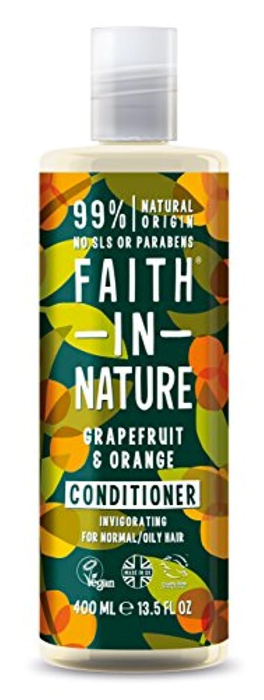 ドループポーンさようならFaith In Nature Grapefruit & Orange Conditioner For Normal To Oily Hair 400ml
