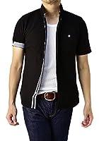 (フラグオンクルー) FLAG ON CREW 半袖シャツ メンズ カノコ生地 スリムデザイン 全開 ポロシャツ M L LL 3L / A0J
