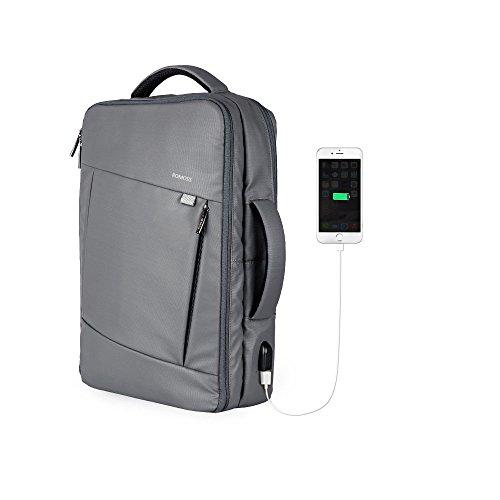 PCバッグ リュック 大容量 3WAY ROMOSS USBポート付き ビジネス バックパック 通勤 出張用 15.6インチ 防水 メンズ レディース BP01 Gray
