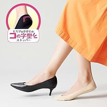 [オカモト] 脱げない ココピタ 3足組 フットカバー 浅履き フォーマルタイプ K3302253 レディース ブラック 日本 21-23cm (日本サイズS相当)