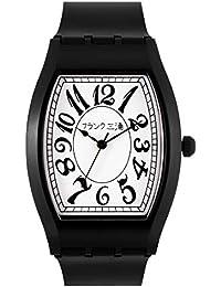 [フランク三浦]FRANKMIURA 腕時計 チープ三浦 量産型 日本製 日常生活防水 ウレタンベルト ホワイト×ブラック FCQ-002 メンズ