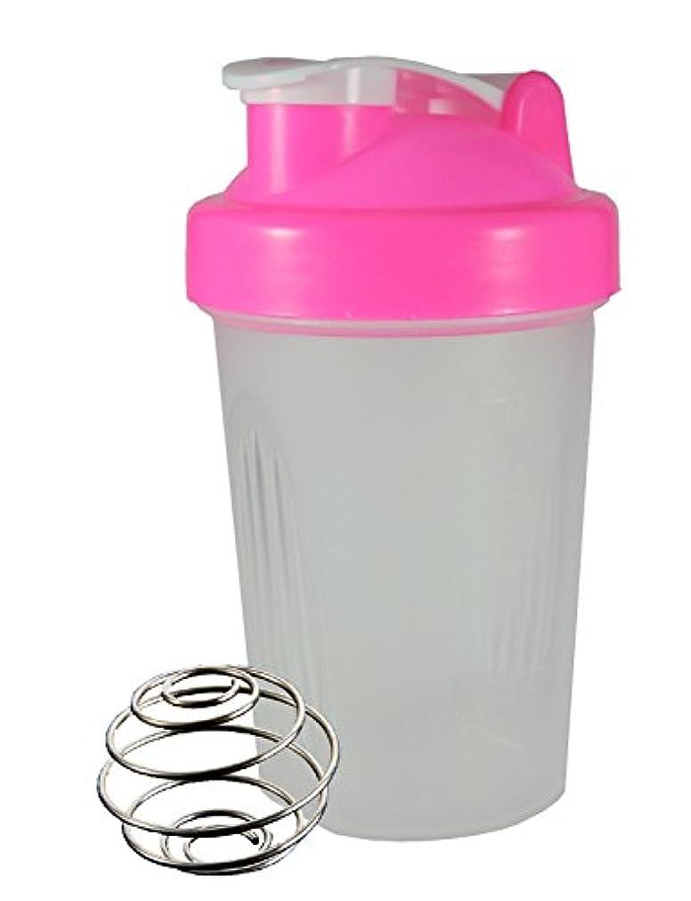葬儀提供取り扱いノーブランド シェーカーボトル 400ml (ピンク)
