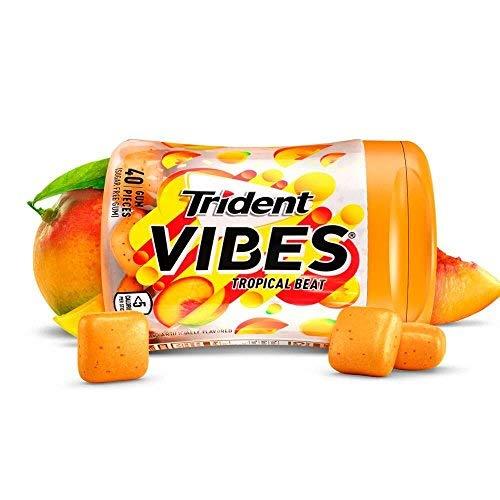 Trident Vibes Tropical Beat Sugar Free Gum トライデントバイブトロピカルビートシュガーフリーガム