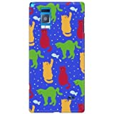 SECOND SKIN uistore「Daily Cats(blue)」 / for Optimus G LGL21/au ALGL21-ABWH-194-X065