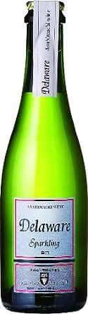 朝日町ワイン スパークリングデラウェア 白 辛口 ハーフ 375ml×6本 [日本/スパークリングワイン/辛口/ライトボディ/6本]