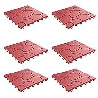 Pure Garden 50-LG1169 パティオ&デッキタイル - インターロッキングダイヤモンドパターン 屋外床敷き 耐候性 NA 50-LG1172 1