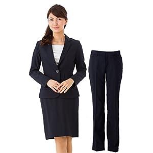 (アッドルージュ) レディース スーツ 3点セット タイトスカート パンツ ジャケット [j5001] 15号ABR ネイビー
