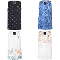 SoulCal All Over Print Tank Tops Vest Mens Blue Small