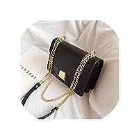 女性のためのクロコダイル柄クロスボディバッグ2019小チェーンハンドバッグ小袋PUレザーハンドバッグレディースデザイナーショルダーバッグ,Black