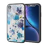 エレコム iPhone XR ケース ハイブリッドケース 背面カラー ハーバリウム(ブルー) PM-A18CHVCG5T6