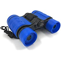 Real Binoculars for Kids Blue Kids Binoculars Adjustable with carry bag and lens cloth [並行輸入品]