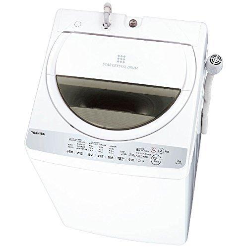 東芝 全自動洗濯機 7kg グランホワイト AW-7G6 W...