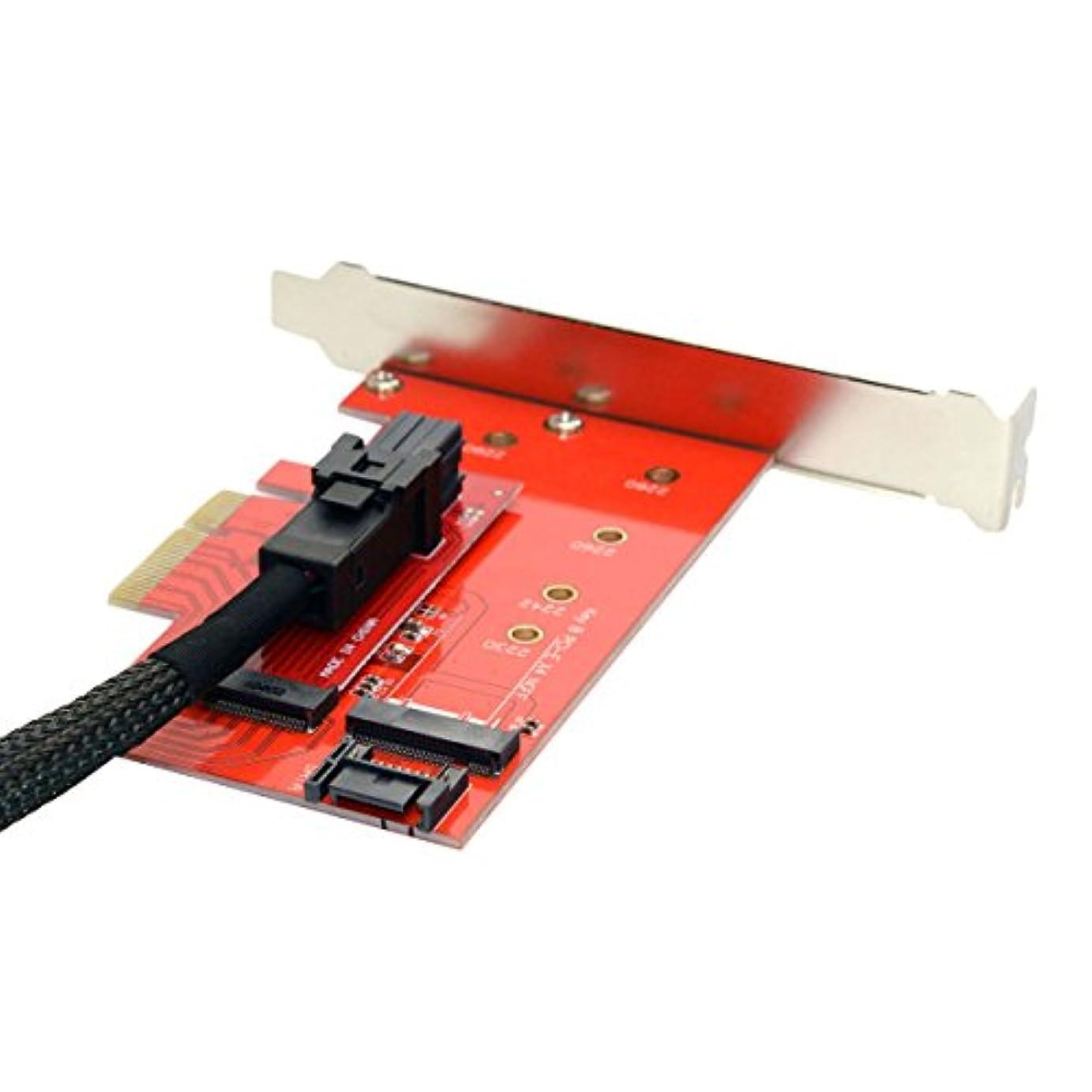 スーパーマーケット再現する義務Cablecc PCI - E 3.0 x4レーンホストアダプタMキーM。2 NGFF SSD to u.2 u2キットsff-8639 forメインボードIntel SSD 750 p3600 p3700