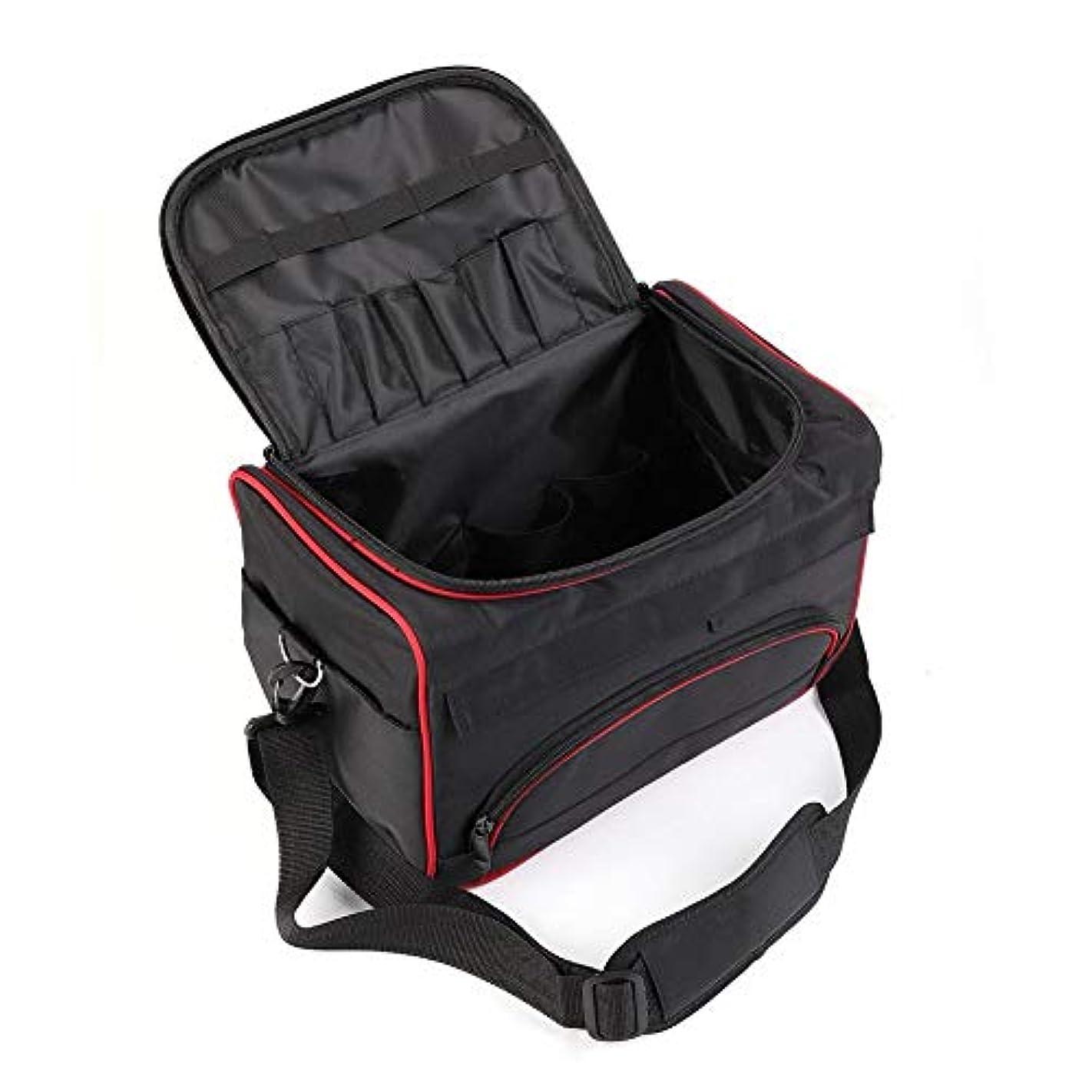 知的スライスがっかりした美容ツールバッグ ハンドバッグ 大型 美容サロン ポータブル バッグ ヘアスタイルケース くし/ドライヤー/かつら 旅行用