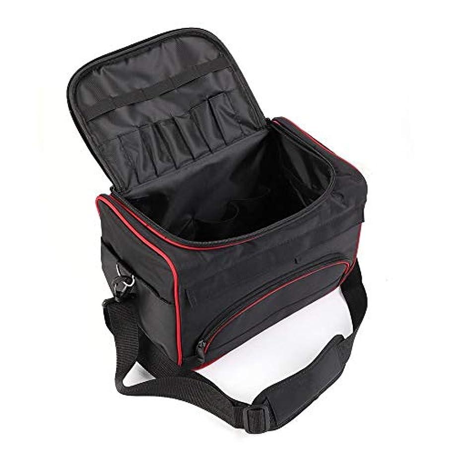 家庭長くするストリップ美容ツールバッグ ハンドバッグ 大型 美容サロン ポータブル バッグ ヘアスタイルケース くし/ドライヤー/かつら 旅行用