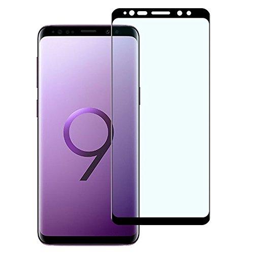 Galaxy S9 フィルム 3D曲面加工 全面保護 S9 ガラスフィルム 表面硬度9H 高透過率 指紋防止 docomo SC-02K au SCV38 Samsung ギャラクシー エスナイン 保護フィルム 黒
