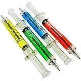Tzou Syringe Pen - Pack of 4 Liquid Filled Syringe Pens by Tzou