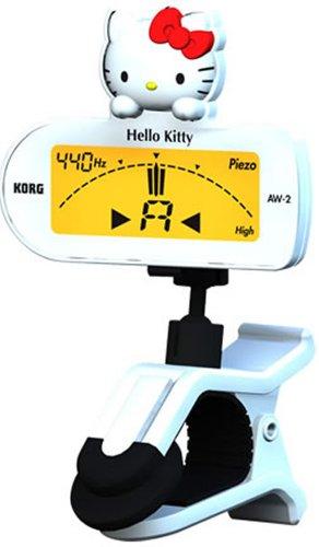 KORG CLIP-ON TUNER ハローキティバージョン ギター&ベース ホワイト AW-2GKW