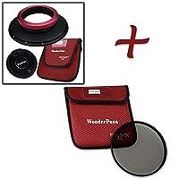 WonderPana XL Essential CPLキット–コアフィルタホルダー、レンズキャップ& 186MM CPLフィルタfor Sigma 14mm 1.8DG HSM Artレンズ(フルフレーム35mm)