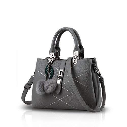 NICOLE&DORIS 2018女性のための女性のバッグのハンドバッグのハンドバッグ新しい波パケットメッセンジャーバッグレディース(Gray)