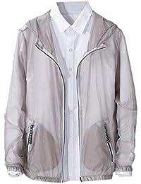 Keaac メンズジップフロントサングラス立体通気性ウインドブレーカージャケットコート