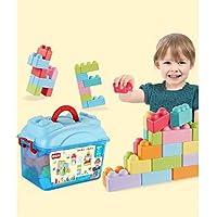 QXMEI 子供用 おもちゃ 子供用 組立ブロック ソフトビルディングブロック ビッググレイン 教育玩具 製品サイズ: 13インチ 8.3インチ 9.8インチ