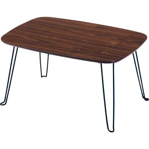 不二貿易 折脚ローテーブル トロン HH-4030DBR 折りたたみ式 幅60x40cm 92245
