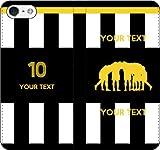 iPhone/Xperia/Galaxy/他機種選択可:部活/好きな番号/文字をカスタム/サッカー手帳ケース(デザイン3:IT_03) 13 全機種対応用【Sサイズ】
