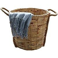 籐のウォーターグラスランドリーバスケット家庭用ポータブル汚れたハンパー服雑貨保管バスケット、27 * 18 * 33センチメートル