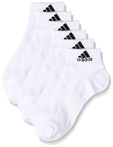(アディダス)adidas トレーニングウェア BASIC 3P ショートソックス DMK56 [ユニセックス] BR6132 ホワイト/ブラック 23-25cm