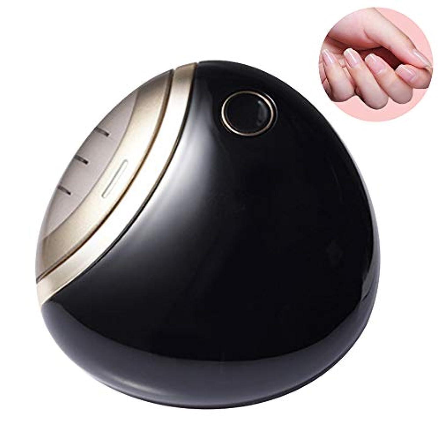 手順宙返り普及電動爪切り 電動ネイルケア 自動爪切り USB充電式 二段階スピート コンパクト 爪磨き 安全安心 日本語取扱書 プレゼント 男女兼用 (ブラック)