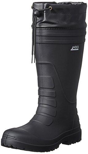 [ヘイギ] 長靴 軽量 EVA発泡ゴム長靴 インソール付き HG-2807 ブラック 27.5 cm