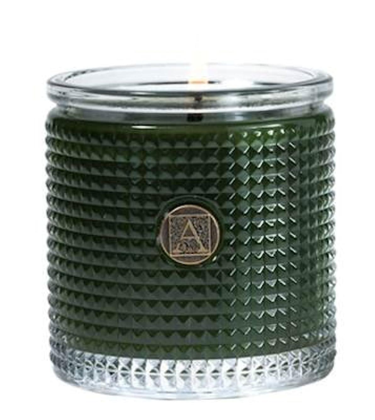 どちらもバレルずんぐりしたSmell of theツリーTextured Glass Candle、5.5 Oz by Aromatique