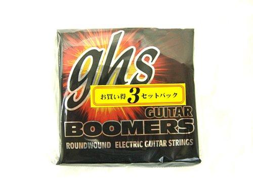 GHS strings GBXL 3SET PACK×1セット Guitar Boomers 009-42 エレキギター弦3セットパック