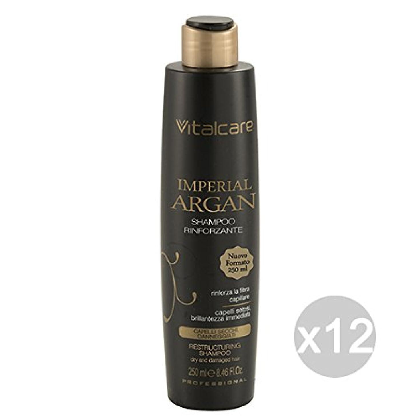 髪のための12バイタルケアインペリアルアルガンシャンプー250ミリリットル製品のセット