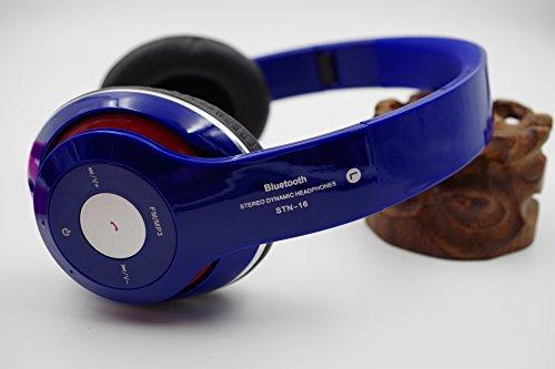 BLUE Bluetooth ヘッドホン ワイヤレスヘッドホン (ブルー) 音声通話可