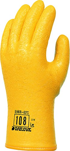 ダイヤゴム ダイローブ手袋 #108 LWサイズ 黄