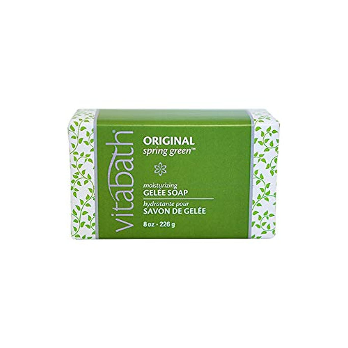 太い囲むキウイOriginal Spring Green Moisturizing Gelee Bar Soap