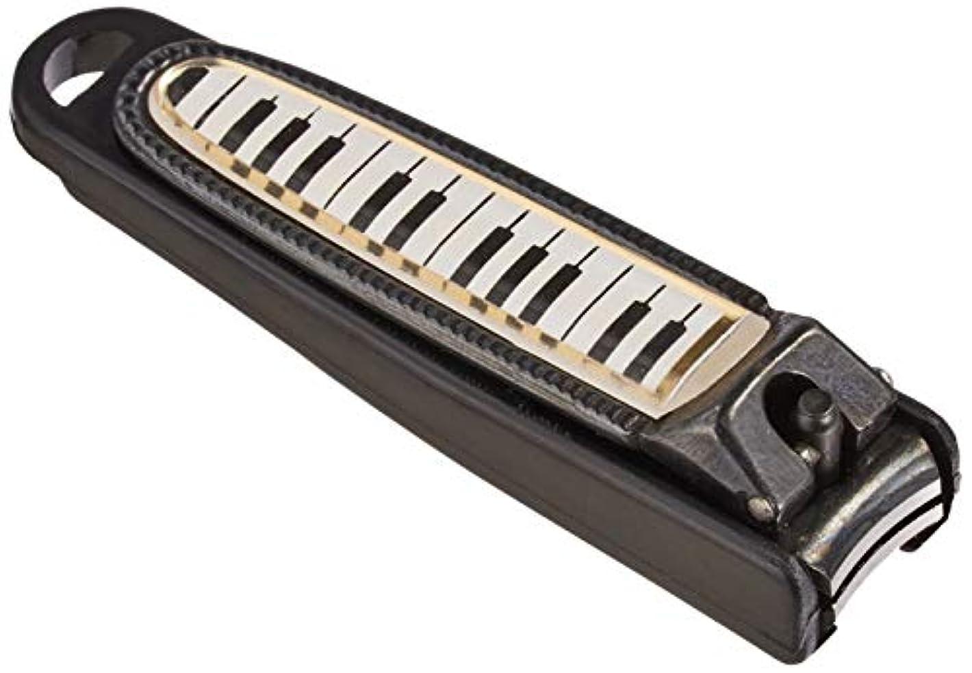 踏みつけ幸運ホバートナカノ 爪切り 鍵盤柄 ブラック NC-65/KB/BL