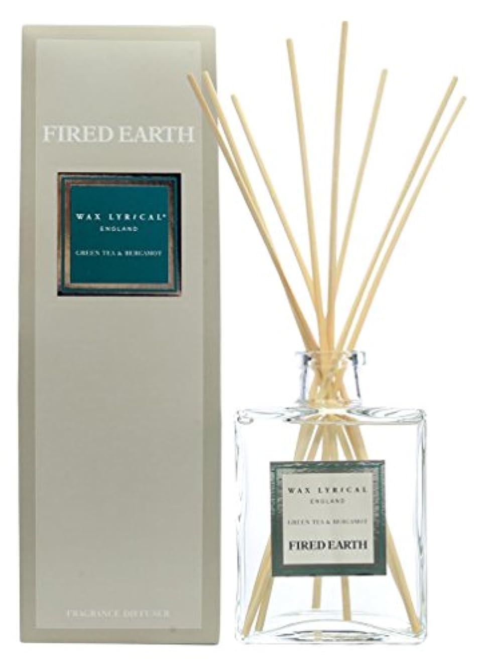 蒸子豚木WAX LYRICAL ENGLAND FIRED EARTH リードディフューザー 200ml グリーンティー&ベルガモット CNFE0102