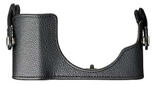 OLYMPUS ミラーレス一眼 PEN E-PL7用 本革ボディジャケット ブラック CS-45B BLK