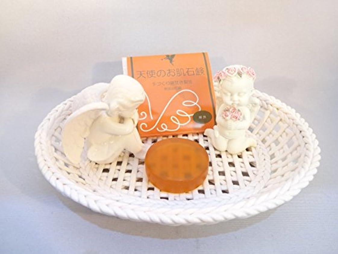 ナプキン雪だるまを作るモネ天使のお肌石鹸 「柿渋」 15g(お試しサイズ)