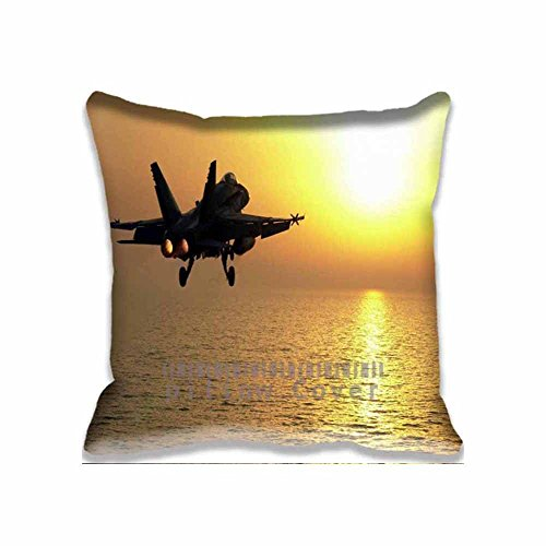 Golden Sunset飛行機スロー枕ケースクールクッションカバーユニークなデザイン枕カバーコットン投げ枕カバー