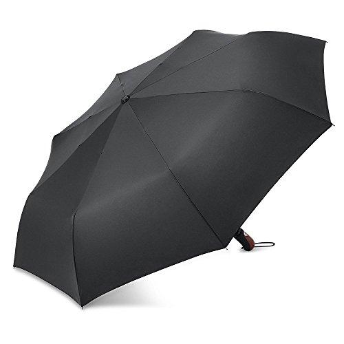 PLEMO 折りたたみ傘 自動開閉折り畳み傘 梅雨対策 ワンタッチ自動開閉 持ち運び携帯用紳士傘 丈夫 撥水性 シンプルブラック (113センチ)