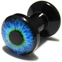 [モンスターキッズ]MONSTER KIDS 青い目玉アクリル インターナリースレッド プラグ 6G/1個 ボディピアス BPPL-05-06