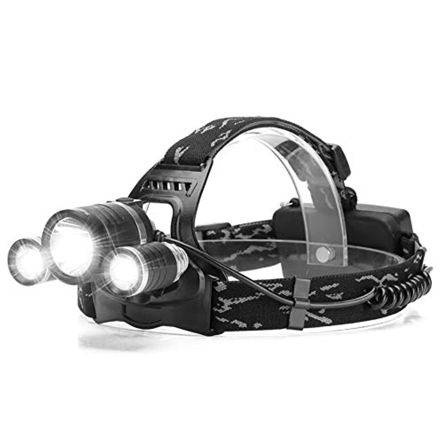 オリエンテーション返還シーケンスヘッドライト,多機能仕事屋外登山釣り防水スーパーブライトヘッドライト